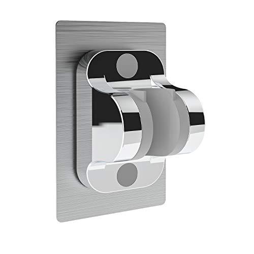 MeeQee Duschkopfhalterung Ohne Bohren Stark klebende Handbrause Halterung - Winkel Verstellbar Kleber Duschhalterung