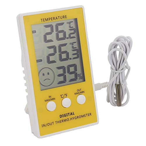 Thermometer für Min./Max. mit Hauptgerät-Hygrometer, für den Innen- und Außenbereich mit 1m Kabel.