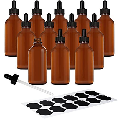 Belle Vous Goteros Cuentagotas Cristal (Pack de 12) 120 ml Botellas Vacías...