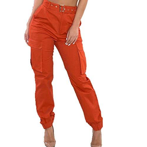 N\P Pantalones de camuflaje para mujer, pantalones de carga casuales, pantalones militares de combate de camuflaje de impresión de carga para mujer, ropa de calle chándal de mujer