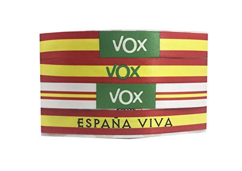 Tarja 73 | Pulsera de Tela VOX. Pack de 4 unidades. España Viva | Regalo Original