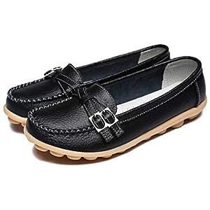 [フィオリア] FR14 BK240 モカシンシューズ フラット ローファー コンフォートシューズ 走れる 靴ひも 結ばない くつ もかしん おしゃれシューズ 滑り止め 通勤 OL 滑りにくい flat shoes for women パンプス スリッポン ローヒール オールシーズン やわらかい れでぃーす 痛くない 秋 履きやすい 軽い ママシューズ シンプル カジュアル シューズ レディース
