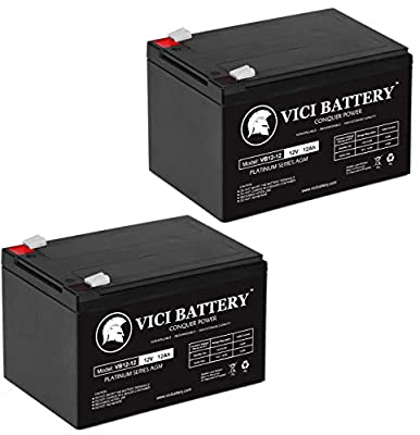 VICI Battery 12V 12AH Replacement Battery for Pride Mobility GoGo Scooter - 2 Pack Brand Product