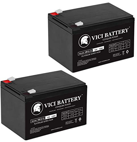 VICI Battery 12V 12Ah F2 Battery for INVACARE Lynx L-3, L-4 Sitting Scooter - 2 Pack Brand Product