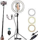 Selfie Luz del anillo con el soporte y soporte for teléfono, USB soporte de luz LED de anillo, con la fotografía del trípode del producto for YouTube Instagram Video, Fotografía, Transmisión en vivo W