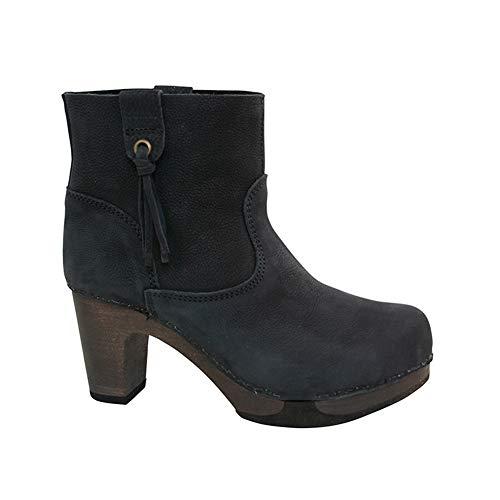 Sanita Damen Wood Viva medium Flex Boot Schlupfstiefel, Schwarz (Black 2), 41 EU