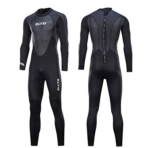 ZCCO Unisex 3Mm Neoprene Wetsuits, Premium Ultra Stretch Neoprene Full Body Diving Suit for Spearfishing, Snorkeling, Surfing,Canoeing,Scuba Diving,Mens,M