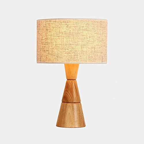 Lámpara de Mesa de Iluminación Decorativa Interior Lámpara de mesa - Mesita de luz, lámpara de mesa de noche de madera con la pantalla de la tela for el dormitorio sala de estar Mesa de comedor Mesa d