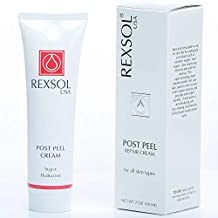 REXSOL Post Peel Cream | Advanced Formula Provides Antioxidant benefits | For Skin Undergoes Cosmetic/Laser Surgery, Laser Resurfacing, Hair Removal & Chemical Peels | 60 ml / 2 fl oz