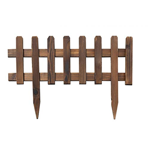 Clôture en bois Décoration de grille de clôture Garde-corps Clôture de jardin en plein air Clôture pour animal de compagnie (Couleur : A, taille : 60 * 25 * 0.9cm)