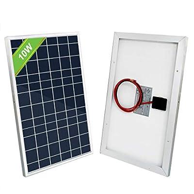 ECO-WORTHY 10W Solar Panel 10 Watt 12 Volt Pv Solar Module Solar Cell Panel