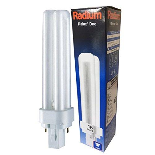 RADIUM Kompaktleuchtstofflampe, G24d-2, 18 W