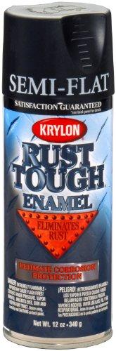 Krylon K09203007 'Rust Tough' Semi-Flat Black Rust Preventive Enamel - 12 oz. Aerosol
