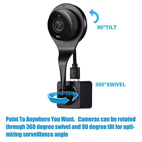 Accrie 360 Verstelbare Ball Joint Muur AC Outlet Mount Houder voor Nest Cam Indoor Camera Zwart