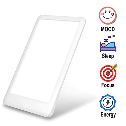 SAD daglichtlamp lichttherapielamp 6500-32000 Lux LED therapie draagbare UV-vrije touchbediening 3 instelbare helderheidsniveaus voor gebruik thuis op kantoor Ouoy