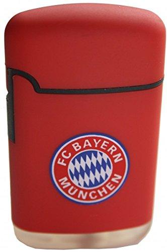Feuerzeug FC Bayern München   Easy Torch Rubber mit Logo rot