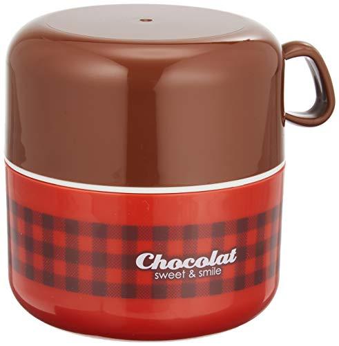 小森樹脂 ショコラ カップランチ レッド 667739 350ml