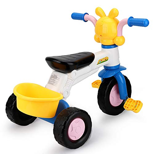 Smart panda Kinder Dreirad - Kinder Dreirad Fahrrad, Kleinkind 1-3 Jahre altes Tretauto 2 Baby kann 5 Fahrräder mit Heckschaufel Fahren, White