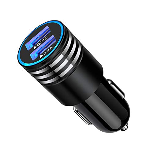 Quick Charge 3.0 Fast Charging Car Charger Adapter Cigarette Lighter USB Charger for iPhone XR X 8 Samsung Galaxy S21 Note 21 20 Ultra S20 FE S20+ S10 Lite S10E S9 S8 S7 A01 A10E A51 A21 A50 A71 A20