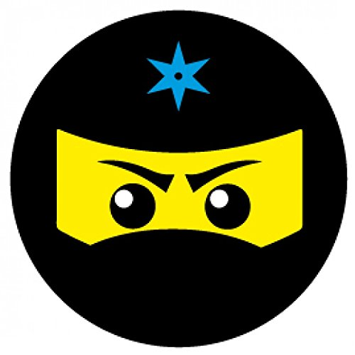 1art1 Gaming - Ninja Icon, Blau Poster-Sticker Tattoo Aufkleber 9 x 9 cm