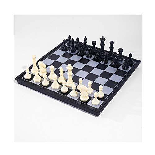 ZANZAN Brettspiele Schach-Set Klappmagnetische Standardschach-Spielbrett-Set mit gefertigten Stücken Bord setzen das Beste Feiertagsgeschenk Schachset (Größe : Large+Double Queen)