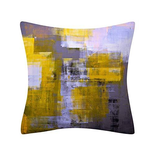 PPMP Funda de Almohada geométrica Abstracta Simple decoración del hogar Moderna sofá cabecera Funda de cojín Abrazo Funda de Almohada A21 45x45cm 1pc