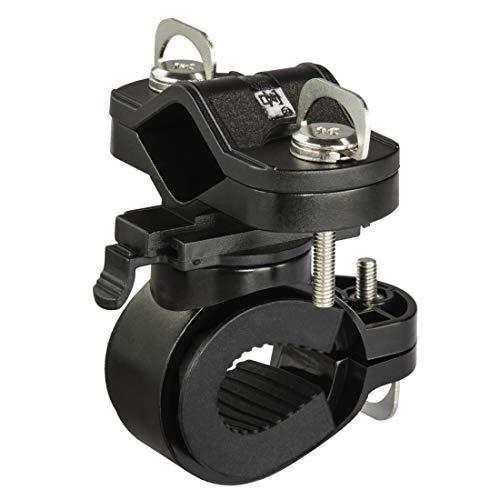 Universal-Taschenlampen-Halter für Fahrradlenker, 360° drehbar, Schwarz