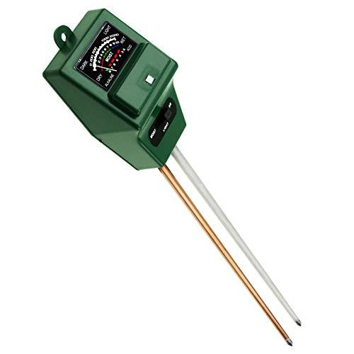 GAIN EXPRESS PH du Sol, L'humidité Et Luxmètre 3 Way Tester Kit (Vert), Jardinage Acidité Probe Outils De Test Plantes Croissance