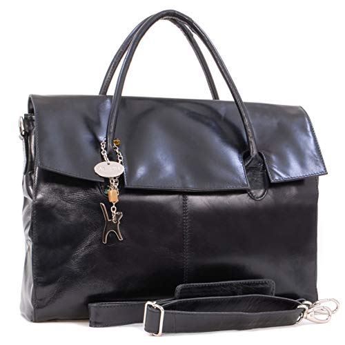 "Übergroße Laptoptasche ""Helena\"" von Catwalk Collection, Shcwarz, Gr. B: 42 H: 31,5 T: 13 cm"