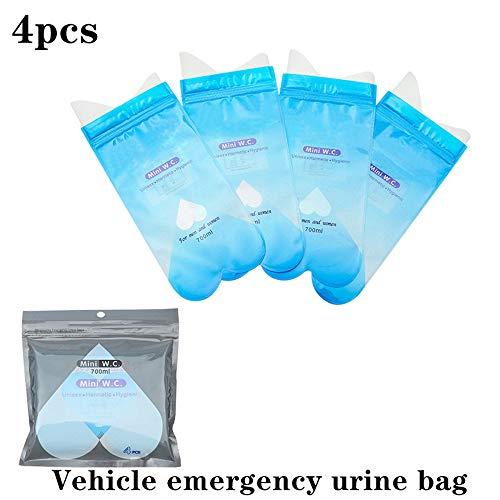 YWZQ 4PCS Emergenza urina Auto Portatile Sacchetto monouso per orinatoio Borsa per Bambini Adulti Portatili Pee Emergenza Borse Esterna Bag Orinatoio Toilette