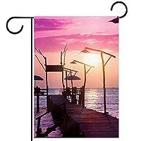 ガーデンサイン庭の装飾屋外バナー垂直旗小さな港 オールシーズンダブルレイヤー