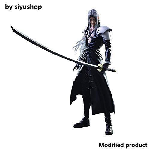 Siyushop Final Fantasy Advent Children: Figura De Acción De Sephiroth Play Arts Kai - Figuras De Acción De Sephiroth - Equipadas con Armas, Alas Y Manos Reemplazables - Alta 27CM