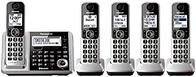 Panasonic KX-TGF375S + 1 KX-TGFA30S Handset (Handsets Total) Bluetooth Cordless Phone System with Dual Keypad (KX-TGF370S + 5, KX-TGF372S + 4, KX-TGF373S + 3, KX-TGF374S + 2) (Renewed)