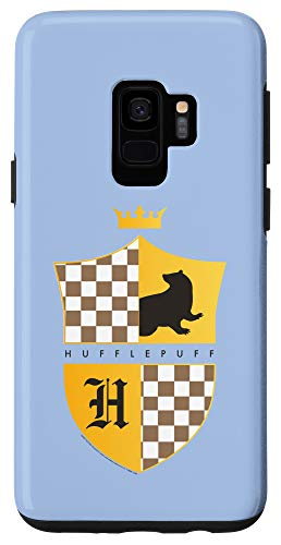 Galaxy S9 Harry Potter Hufflepuff Checkered Shield Crest Case