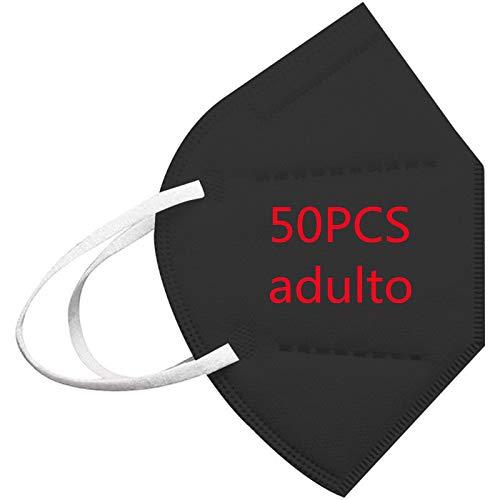 TWBB Protector de Nariz y Boca Pack 30 Unidades, 1029-TWBB-108 (50PCS-Negro-02, Talla única)
