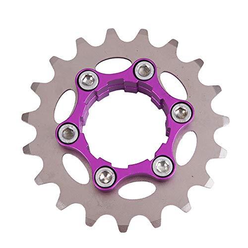 YUOKI99 Rueda de bicicleta de una sola velocidad ultraligera accesorios de equitación de engranaje fijo profesional piñón de bicicleta de 16 a 23 T Styling (16T)