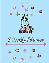 Weekly Planner: Undated Perpetual~Cutie Unicorn Theme Planner 52 Weeks V9
