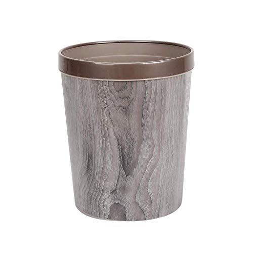 SMEJS Pequeña papelera – Cesta de basura duradera para baño, dormitorio, oficina y mucho más | Capacidad con elegante acabado exterior de madera de granero (color: A)