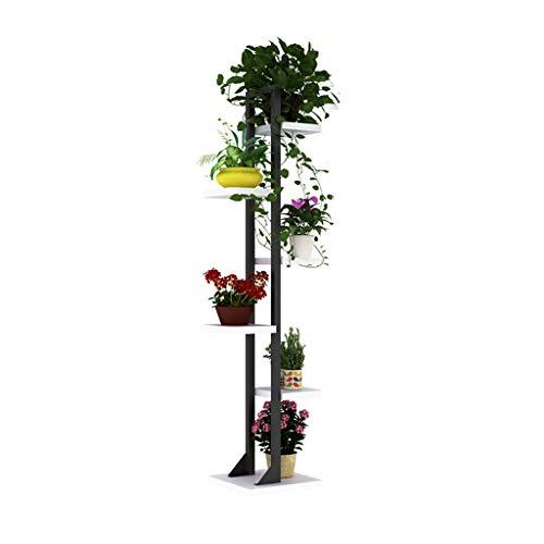 Udfybre Multicouche Jardinière, Porte-Bagages en Métal-au Sol Chancela, Balcon Salon Pot Support De Rangement, Chambre d'angle Bibliothèque - 2,5x2,5 Cm Tube Carré (Couleur : D)