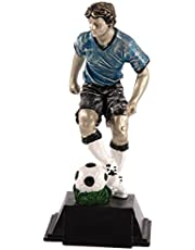Art-Trophies TP400 Trofeo Futbolista Conduciendo Balón, Azul, 13 cm