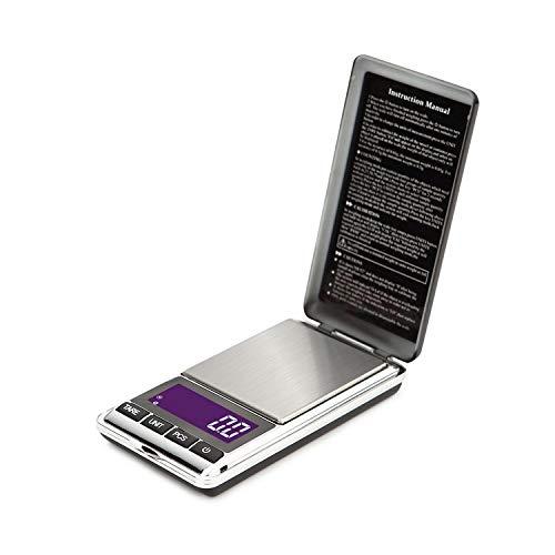 JTRHD Escala de Cocción para Hornear Cocina Escala electrónica de precisión Ultra-portátil de 0.1 gr Inicio Ingredientes de la Cocina Punto Escala West para Pesar Cocinar Hornear