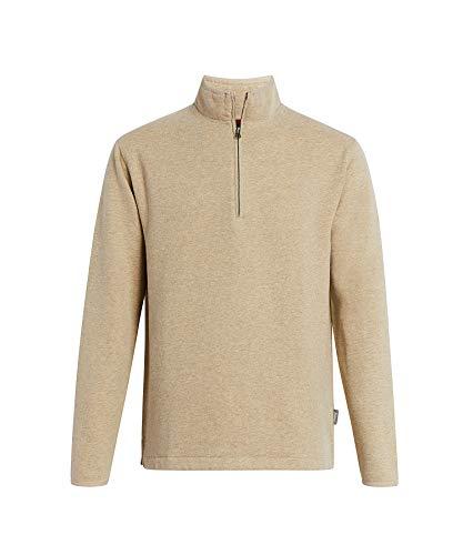 WOOLRICH Herren Boysen Half Zip Ii Sweatshirt, Haferflocken Heather, Large