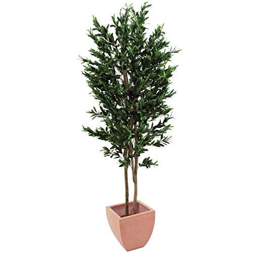 artplants.de Set 2 x Olivo Artificial con 4740 Hojas, 445 Olivas, 2 Troncos Naturales, 250cm - 2...