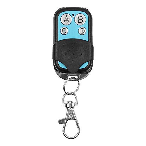 QiKun-Home Control Remoto RF inalámbrico Universal de 4 Canales Copia 433MHz Puerta eléctrica Interruptor de Llave de la Puerta del Garaje Controlador Fob Negro y Azul