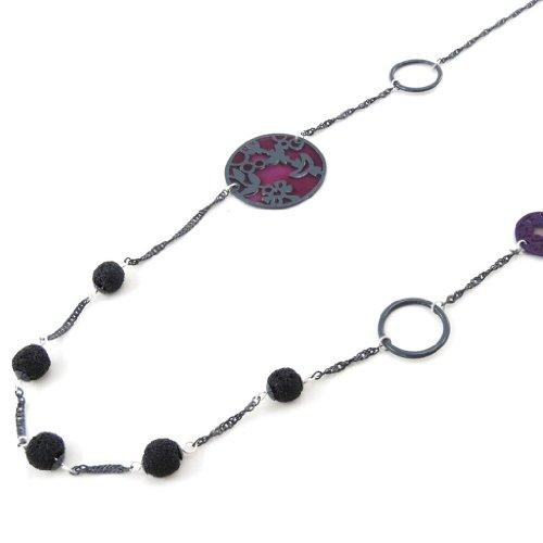 Noa [J2181 - Collier creador 'Ombres Chinoises' púrpura Negro.