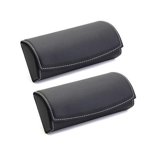 Yiwen Funda de Gafa,Estuche de anteojos Estuche para Las Caja de Almacenamiento para automóvil Caja de protección para Gafas de Sol de Cuero PU Colgante Forro Flocado Elegante Simple