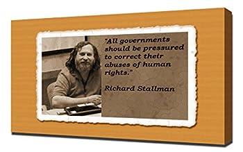 Richard Stallman Quotes 4 - Canvas Art Print