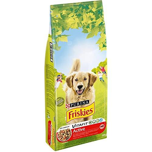 animaux FRISKIES - Croquettes Chien Active Riche en Viandes 18Kg - Lunité - Offre Special