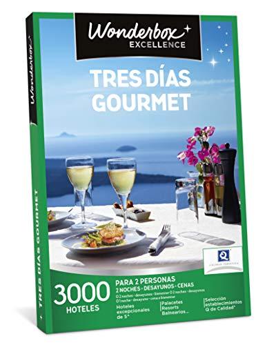 WONDERBOX Caja Regalo - Tres DÍAS Gourmet - Dos Noches con desayunos y cenas o más Opciones a Elegir Entre 3.000 hoteles para Dos Personas.