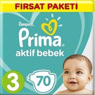 Prima 3 Beden Bebek Bezi 70 Adet Ekonomik Paket